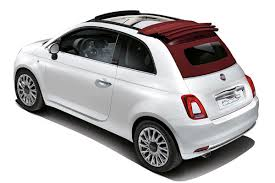 FIAT 500 BLANCHE CAPOTE ROUGE